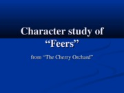Character Study of Feers revised