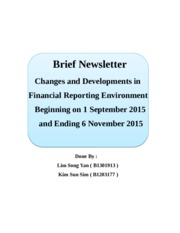 Report on the Changes and Developments in Financial Reporting Over a 10