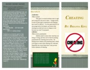 Cheating brochure