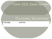 Chem 102L Exam Review