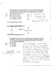 Physics140 - W08 - Exam 1 Solutions