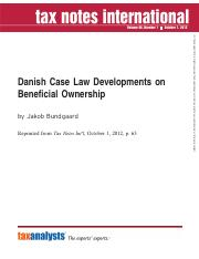 Danish-Case-Law-Developments-on-Beneficial-Ownership-Jakob-Bundgaard-Tax-Notes-International-Vol.-68