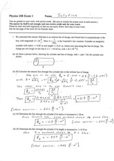 Exam 1 Solution on Electricity, Magnetism, and Light