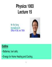 Lecture 15 battery & heating