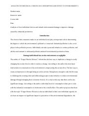 consumer choice and effects on the environment.docx
