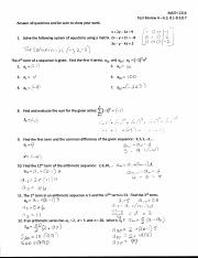 Test 5 Review Solutions