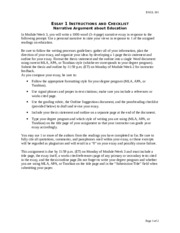 Essay 1 narrative argument about education