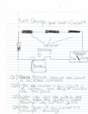 Physical Science 3.03 Design Your Own Circuit