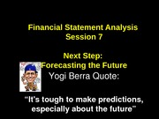 session 7  - forecast theory