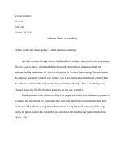 Research Paper: Classical Music