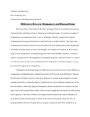 Comparison and Contrasting Essay Final Draft