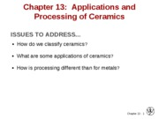 2010-03-17 Chapter 13 Applications and Processing of Ceramics