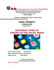 COMP622 - Final Project Socila Media Threats.docx