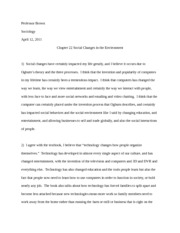 Chapter 22 Social Change and the Envirorment