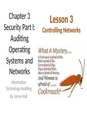 Chap03 Security I Auditing OS & Networks - TTH 3 Controlling Networks & Auditing EDI.pptx