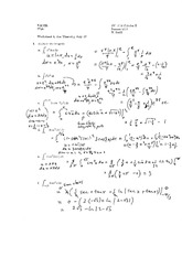 Worksheet 5 Solution on Calculus 2