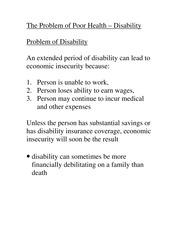 Module 4 Notes-Problem of Disability