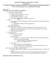 Psych 345 Exam 1 Study guide