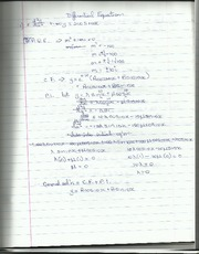 Differential Equations Worksheet solutions