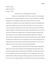 """The Tiger's Wife"" Essay Example"