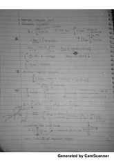 Class notes on improper integrals and differential equations