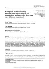 Managerial share ownership