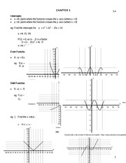 Ch 5 Graphing Characteristics Notes