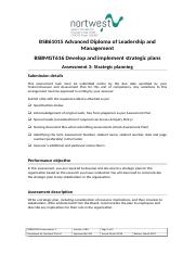 BSBMGT616 Assessment 3_Develop and implement strategic plans.doc