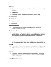 Business Honors Class Notes Chapter 10 Notes