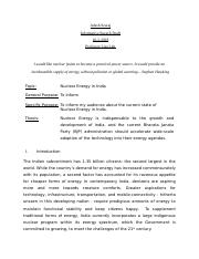 Adesh Seuraj_Nuclear Energy in India.docx