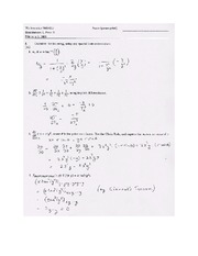 Exam B Solutions on Calculus Page 1