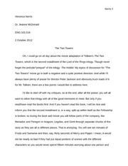 Lord of the Rings Analysis Essay
