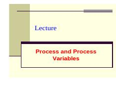 CL-201 Chapter 3 Process and process variables