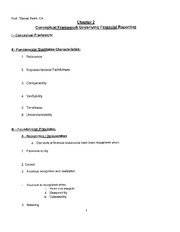 Acco 310 - Chapter 2 Handout