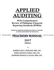 applied auditing asuncion 2017 pdf applied auditing with rh coursehero com Principles of Manufacturing Processes Metal Solutions Manual Textbook Solution Manuals