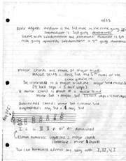 class notes- scale degrees and triads