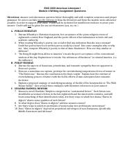 ENG2223 Module 4 Writing Assignment Questions