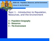 Geog 102 Topic 1