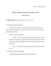 Rel 101 Content Outline Hinduism 4