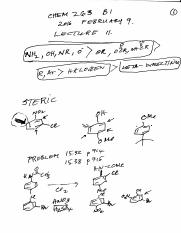 Chem 263 B1 Lecture 11 2016 February 9