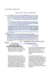 Auditing Concepts - Chapter 6 Exercises, Problem, & Simulations 6.45(CH)