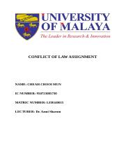 2015 CONFLICT LAW ASSIGNMENT.docx