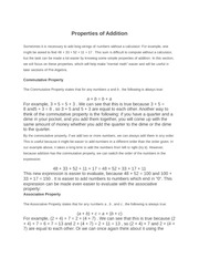 Properties of Addition (Section 2)