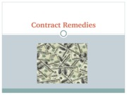 Contract Remedies