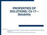 2010-02-01 - Solubility
