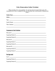 Policy_Memorandum_Outline_Worksheet