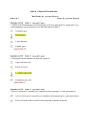 Quiz #4 - Chapter 04 Personal Sales.docx