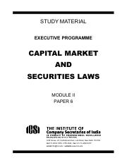 CAPITAL MARKET AND SECURITIES LAWS (MODULE II PAPER 6) (1)