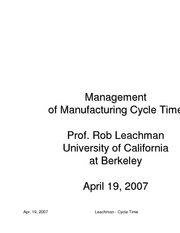4-19-07 management cycle time