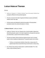 Lecture Notes on Thomson